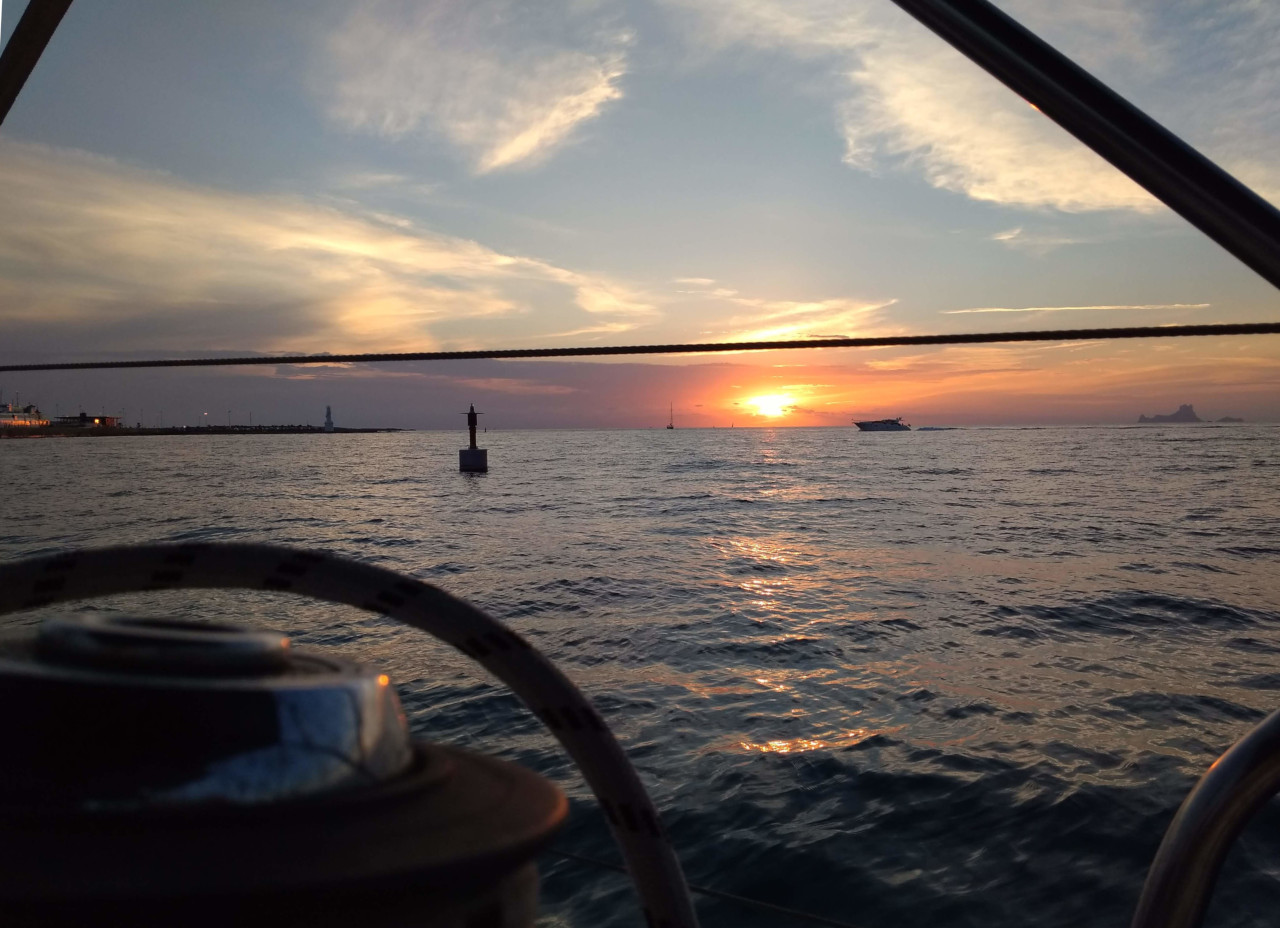 Nautical crossing  7 days between Valencia, Formentera and